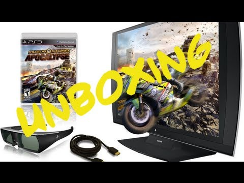 Sony PS3 3D TV !!! Unboxing