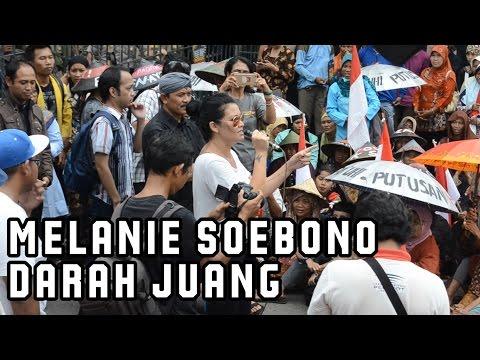 Melanie Soebono Orasi Tolak Pabrik Semen & Sing a Long