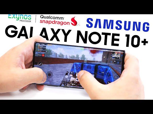 УНИЖЕНИЕ-2. Samsung Galaxy Note 10+ на Snapdragon 855 против Note 10+ на Exynos 9825 / ОБЗОР в играх