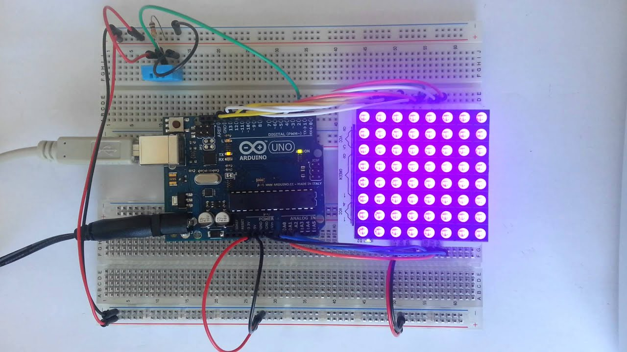 LedDisplay Arduino Library, using Avago HCMS-29xx