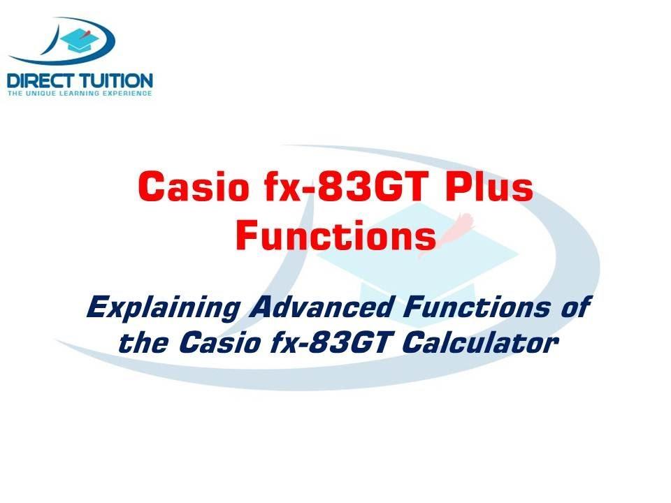 how to use casio fx 82au plus for statistics