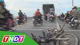 Tai nạn giao thông chết người trên cầu Rạch Miễu, giao thông ùn tắc | THDT