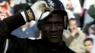 Michael Jordan plays right field for the White Sox