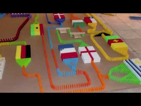 World Cup Domino Line (8,000 Dominoes)