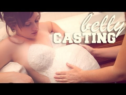 LOPSIDED PREGNANT BELLY CASTING - 36 Weeks Pregnant - Bumps Along the Way Pregnancy Vlog