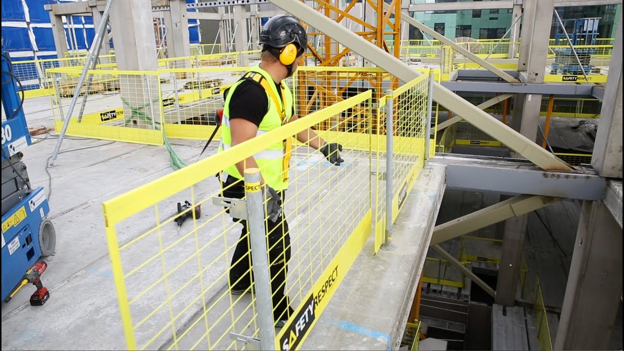 Safetyrespect Edge Protection System For Construction