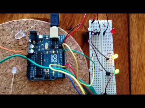 arduino uno/ servo motor controlled by momentary switch