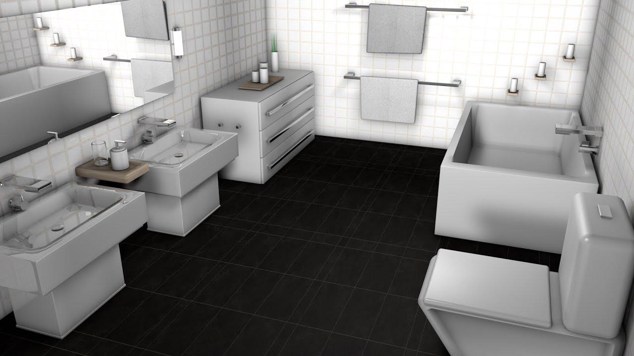 Tiling a bathroom floor on concrete