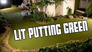 Epic DIY Lit Backyard Putting Green Challenge Feat. Brodie Smith