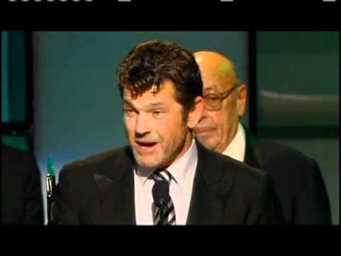 Jann Wenner accepts award Rock and Roll Hall of Fame inductions 2004