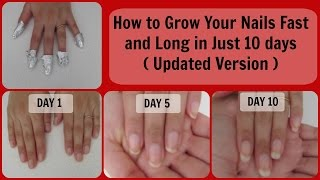 How to Grow your nails really fast and long in just 10 days ( Updated Version ) | Mamtha Nair