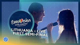 Ieva Zasimauskaitė - When We're Old - Lithuania - LIVE - First Semi-Final - Eurovision 2018