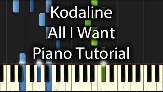 Kodaline - All I Want Tutorial (How To Play On Piano)