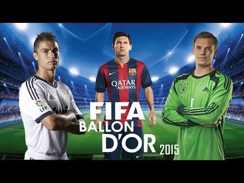 Ballon D'Or 2014 - 2015 ● Cristiano Ronaldo ● Lionel Messi ● Manuel Neuer | Full HD