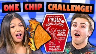 ONE CHIP CHALLENGE!!! (Walk on Legos Punishment)