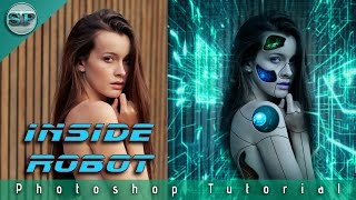 Real Cyborg Girl | Robot Effects | Photoshop cc 2017 Tutorial