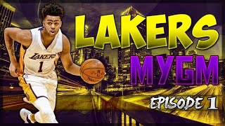 NBA2K17 MyGM Los Angeles Lakers EP.#1: D'Angelo Will Lead Us To A Ring!!!