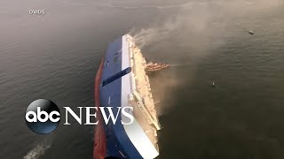 4 missing after cargo ship capsizes off Georgia coast | ABC News