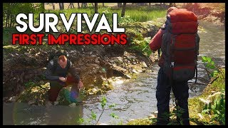 SCUM! First Impressions - *NEW* SUPER-REALISTIC Survival! (Scum Gameplay Part 1)