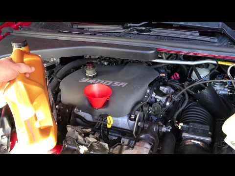 1998 Pontiac Trans Sport Montana Oil and Filter Change