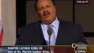 Martin Luther King III speech to DNC