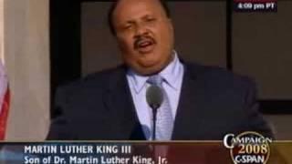 Martin Luther King III speech to DNC