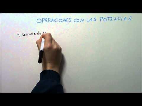 OPERACIONES CON POTENCIAS. HD
