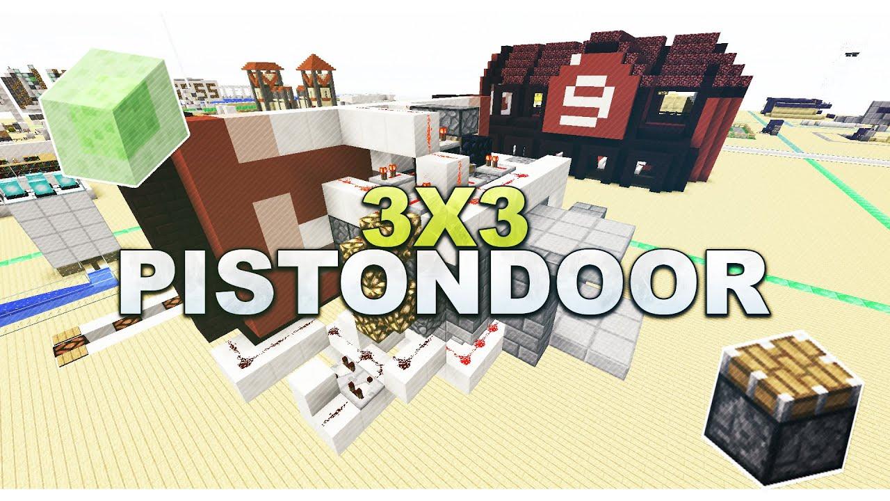 Minecraft Piston Door 3x3 Minecraft 3x3 Flush Piston