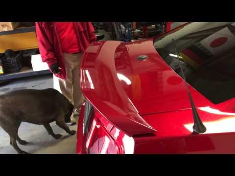 GT500 rear Spoiler on Drew's 2010 Mustang Premium Day 20 - Part 3