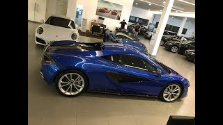 Blue Vega McLaren 570s Coupe
