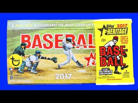 2017 Topps Heritage Baseball Cards Hobby Box Opening Pack Break Possible Aaron Judge Cody Bellinger