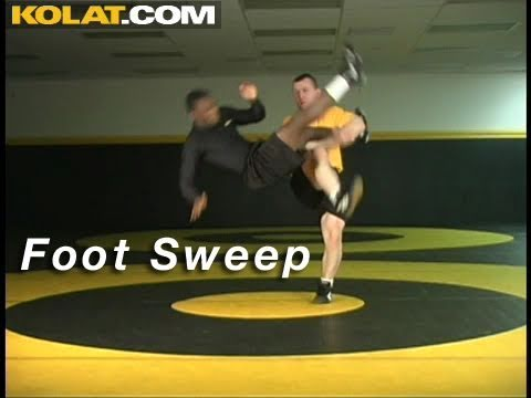 Foot Sweep from Single Leg KOLAT.COM Wrestling Takedowns Techniques Instruction Image 1