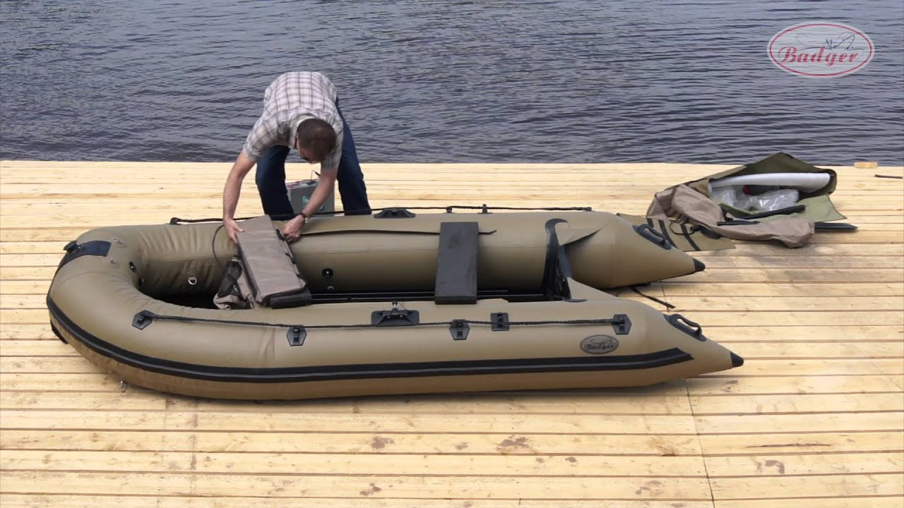 лодка баджер sl 370 al видео обзор