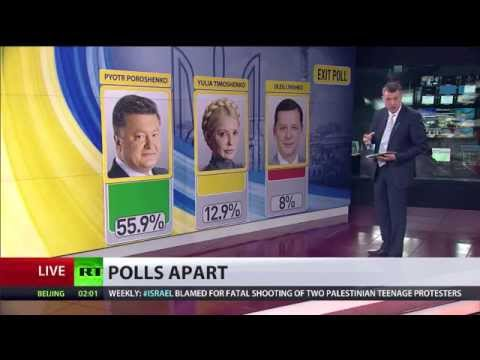 Ukraine tycoon Poroshenko wins presidential election with over 50% votes - exit polls