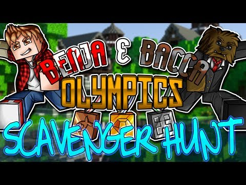 Minecraft: Benja & Bacca Olympics Game 4 - Scavenger Hunt!