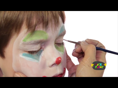 Clown Face Painting Tutorial