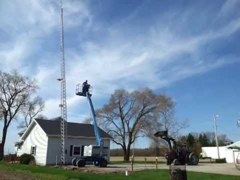Lowering Antenna Tower