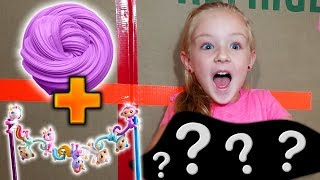 3 Colors of 1 Gallon Slime! FingerLings Minis Slime vs Hatchimals Slime vs Shopkins Slime!!!