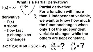 Calculus 3: Partial Derivative (1 of 50) What is a Partial Derivative?