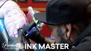 12 Hour Sleeve Tattoo - Elimination Tattoo | Ink Master: Return of the Masters (Season 10)