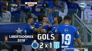 Cruzeiro 2 x 1 Racing (ARG) - Libertadores 2018 - Fox Sports HD⁶⁰