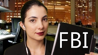 🎧[ASMR BINAURAL]👂 Roleplay - F.B.I - (Vídeo para relaxar) Tapping, sussurros, plástico, etc...