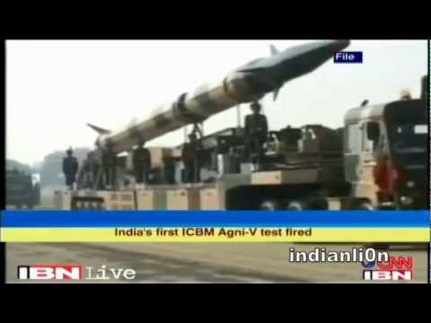 India Sucessfully Test Fire Agni - 5 Missile