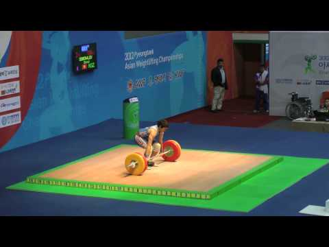 2012 Asian Weightlifting Championships - 62kg men's A group Snatch & Clean and Jerk Image 1