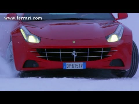 New Ferrrari ff Drift on Snow