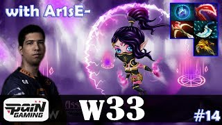 w33 - Templar Assassin MID | with Arise (Gyrocopter) | Dota 2 Pro MMR Gameplay #14