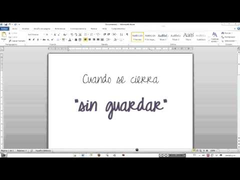 ¿Cómo recuperar documentos de Word?