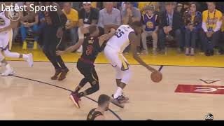 """klay thompson tells lebron """"Look at the score, To easy"""""""