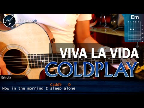 Como tocar Viva La Vida - COLDPLAY - Principiantes FACIL (HD) Tutorial Guitarra Acustica