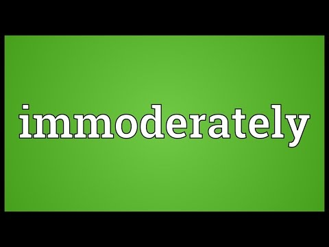 Header of immoderately